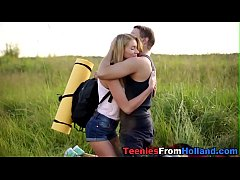 Hiking dutch teen jizzed