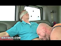 BAIT BUS - Straight Bait Tourist Jacques Lavere Tricked Into Having Gay Sex With Mitch Vaughn