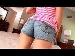 Pretty teen Ashton Pierce with highlighted hair is drilled by her lusty cousin