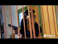 Big Booty Ebony Cop Nancy Love Bangs Her Prisoner