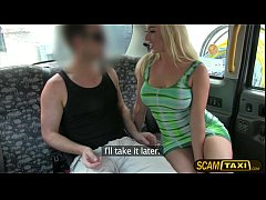 Horny slut Victoria gets banged hard by the pervy cab driver in the backseat
