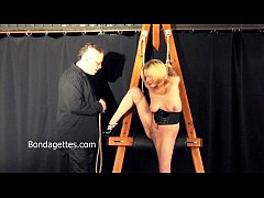Amateur blonde Weekays dungeon bondage and sexual domination of damsel in distre