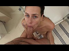 Mea Melone Shower Blowjob