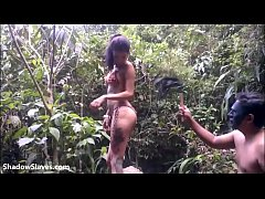 HD Outdoor domination and lesbian slave training of debutant latina submissive in s