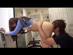 Beautician Beauty Comes Boobs Pressed Against The Face. SCOP 062 2