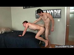 These two sexy buff frat hunks are having hot anal sex
