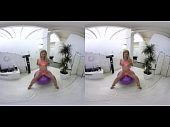 vrpornjack.com - Hot teen on fitness ball in vr