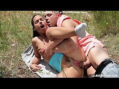 Spanish Babe Apolonia Devours Massive Cock in Nature