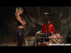 Young Lesbian Girl Gets her Hot Body Whipped By Mistress