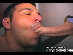 Latin Lover Sucking Glory Hole Cocks
