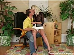 Platinum Blonde Czech MILF Sex