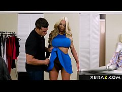Clip sex Curvy mannequin doll comes to life in a clothing store
