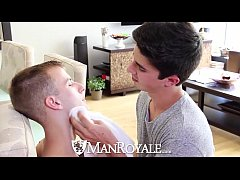 HD - ManRoyale Shaving time gets steamy for young twinks