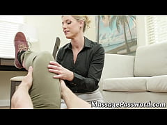 Classy MILF gives massage before getting pounded