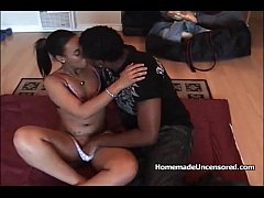 Hot black couple fucks on homemade video
