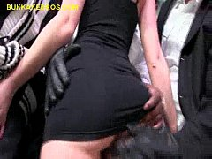 Brunette Entertains Black Men Group