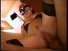 Big hard cock bangs the pussy of a slut in mask