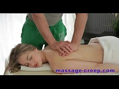 Massage-creep Sexy teen fucked by her masseur