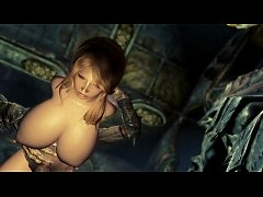 Skyrim Beautiful Sexy Lara Forced by Monsters