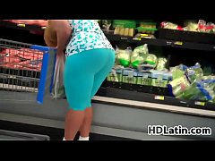 Large Latin Booty At The Superstore