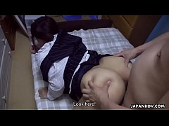 Drunk Asian office girl has her hairy fuck hole creampied
