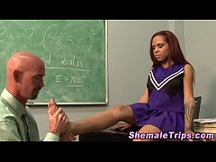 Black tranny spunked on
