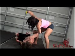 Barefisted Barefoot Bloody Beatdown - Fighter Mikaela Has No Mercy For This Guy