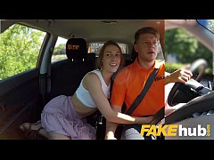 Fake Driving School Horny minx Alexis Crystal desires drivers cock