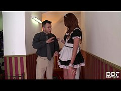 endless lust makes redhead emma leigh ride enormous dick in hotel s hallway