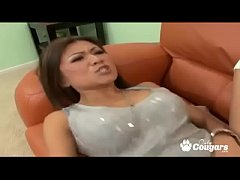 Asian Mature Woman Jackie Lin Gets A Hot Cum Load Shot Inside Her Pussy