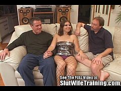 Dana Fulfills Her MFM Three Way Fantasy Slut Wife Training Style!