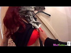 MallCuties - Amateur redhead girl sucking and fucking for shopping free