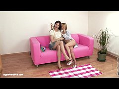 Sensual  lesbian sex by Sheridan and Justine from Sapphic Erotica - Fingering Ec