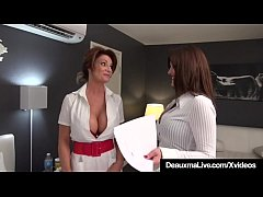 Hot Medical Practitioner Deauxma & Sexy Attorney Taylor Ann are Lesbian Lovers who try to give Deauxma's patient a heart attack & steal his money by sucking & fucking his cock while he lies helpless in bed after he signs his new will! Fun