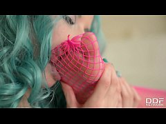 Cosplay Lesbians in Fishnet Pantyhose Cum Hard
