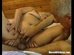 Clip sex Hairy Pussy Blonde Mature Fumbled By Two Cocks