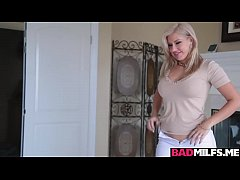 Blonde milf Savana shares stepsons cock with Emma