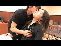 Asian lawyer has a hot threesome in the court room