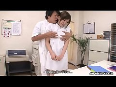 Japanese nurse is punished by being roughly fucked and creampied