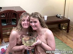 Twins Enjoy a Bukkake and Golden Showers Part 9