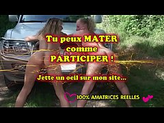 2 lesbian blondes in car - amateurs compilations