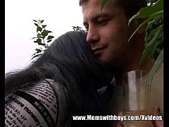 Young Gardener Garden Fuck With Brunette Mature
