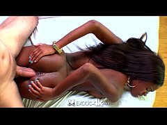 Exotic4K - Sexy ebony Armani Monae takes a huge dick in her pussy