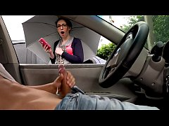 NICHE PARADE - Flashing Dick On A Rainy Day For Bespectacled Brunette