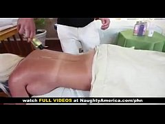 Busty Jackie Joy gets a fuck by her massage therapist