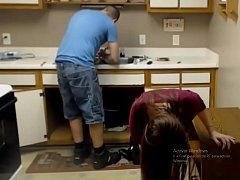 girl seducing plumber