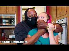 bangbros - strong arming aj applegate s tight pussy behind bf s back