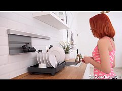 HD Old Goes Young - Naughty chick rides a hard cock in kitchen