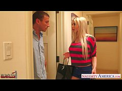Blonde gf Christie Stevens gets ass nailed