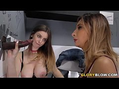 Stella Cox and Jade Jantzen Share BBC At Gloryhole